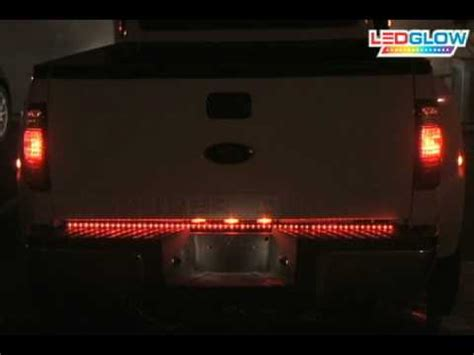 ledglow 60 inch red led ledglow red led tailgate light bar 49 inch 60 inch