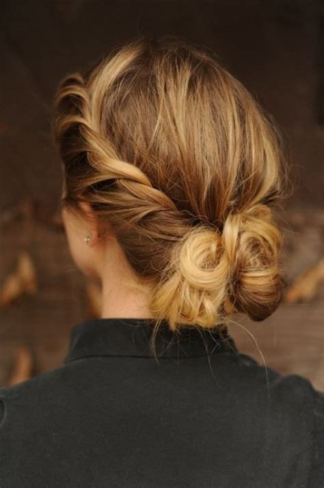 pretty french twist updo hairstyles popular haircuts