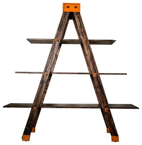 a frame shelf a frame ladder shelf industrial bookcases by anton