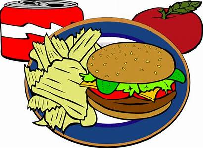 Chips Drink Clipart Hamburger Clip Fast Soda