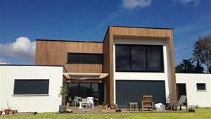Bardage Façade Maison : maison contemporaine avec bardage bois contemporain fa ade toulouse par atelier sc nario ~ Nature-et-papiers.com Idées de Décoration