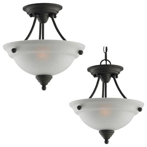 lighting fixtures for kitchens sea gull lighting 77575 albany semi flush mount 7030