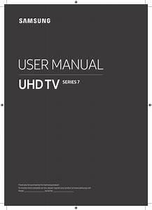 Samsung Smart Tv 4k Uhd 55 Inch Ru7200 User Manual