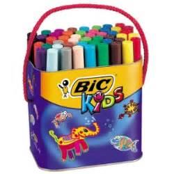 feutres de coloriage bic kids visacolor xl pot
