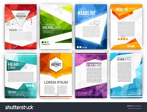 poster design template poster design template set abstract modern stock vector 374348854