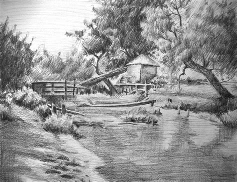 landscaping drawings untitled landscape drawing by koanne on deviantart