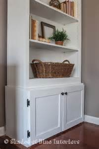 Bookshelf With Cabinet Base by How To Build A Custom Cabinet Base For A Bookcase