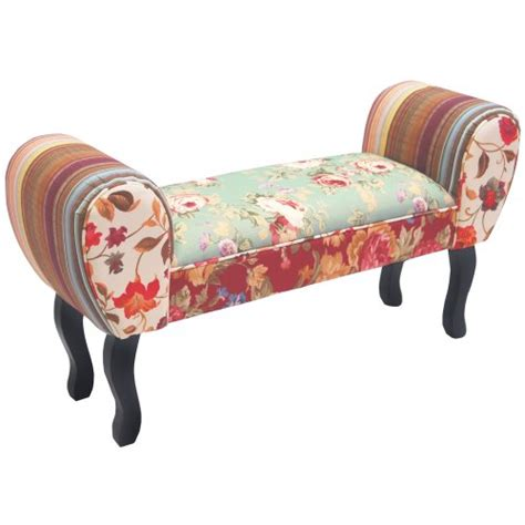 chaise cagne chic roses shabby chic chaise pouffe stool wood legs