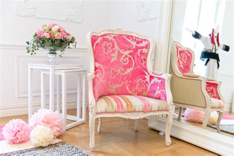 A Beautiful Armchair Upholstered With Designers Guild