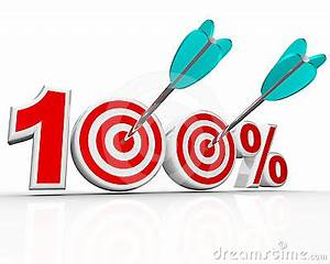 100 Percent Arrows In Targets Perfect Score Royalty Free ...