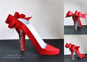 crafting in the night 3d high heel shoe svgcutscom With high heel shoe template craft