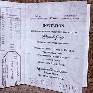 raquel gerry39s custom passport wedding invites With handmade passport wedding invitations