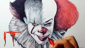 Pennywise The Clown 2017 Vs 1990 Drawing