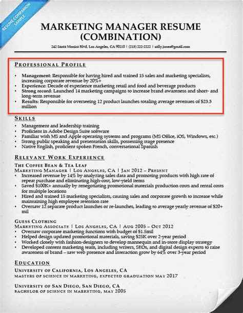 What Is A Resume Profile by Resume And Profile Statement