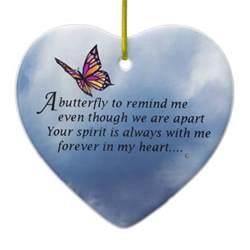 butterfly memorial poem sided ceramic ornament zazzle