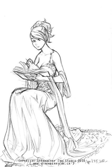 girl reading a book by Meibatsu on DeviantArt