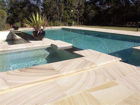 Waterline Pool Tiles Melbourne by Sandstone Pool Pavers Sydney Melbourne Brisbane