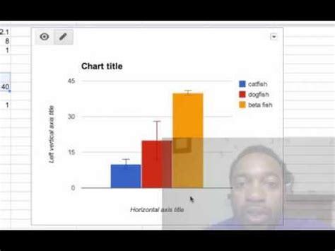 bar graphs  error bars  google spreadsheet youtube