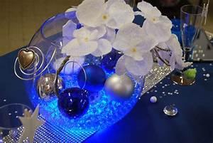 Table De Noel Traditionnelle : decoration table noel bleu et blanc ~ Melissatoandfro.com Idées de Décoration