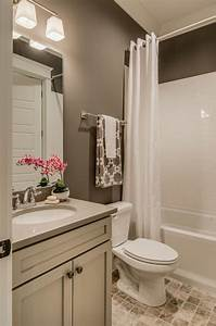 paint color is sherwin williams portico sw 7548 With flat paint in bathroom