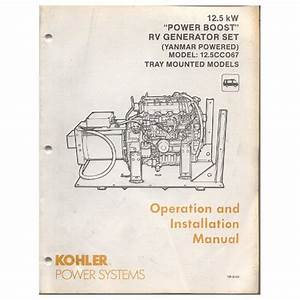 Original 1991 Kohler Operation Manual 12 5 Kw Power Boost