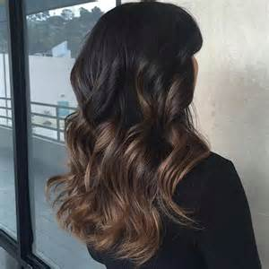 Dark Brown Hair with Balayage