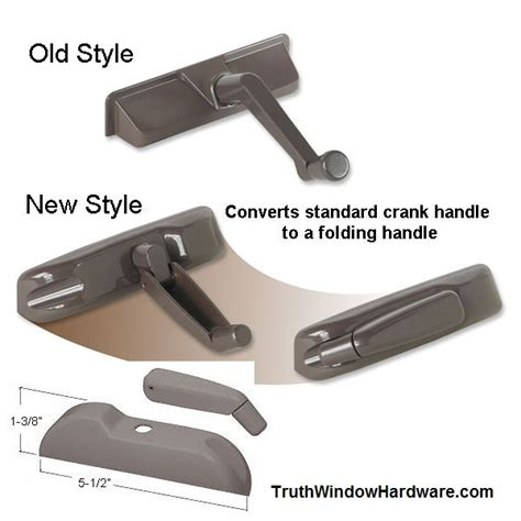 casement style windows folding handle conversion kits bronze  white finish upgrade