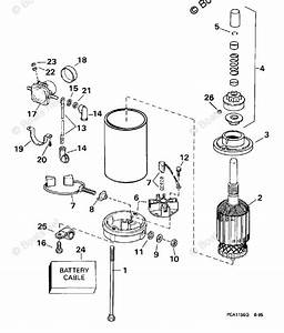 Johnson Outboard Parts By Hp 25hp Oem Parts Diagram For
