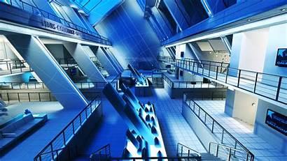 Future Futuristic Wallpapers Desktop Gym Mirror Night