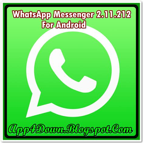 whatsapp messenger 2 11 212 for android apk version app4downloads app