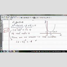 Solving Quadratic Equation With Complex Roots Of X^2 4x