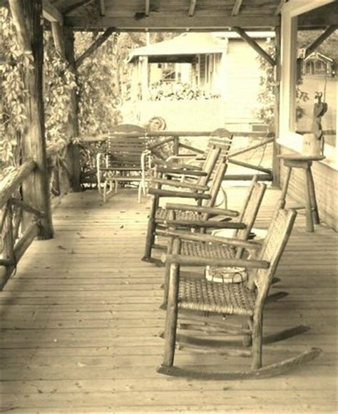 the rocking chairs on maynard s front porch outside the
