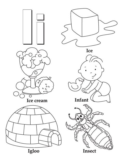 i words alphabet color pages alphabet coloring pages of 797 | i words alphabet color pages