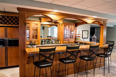 Home Bar Area by Home Bar Area Traditional Basement Cleveland By