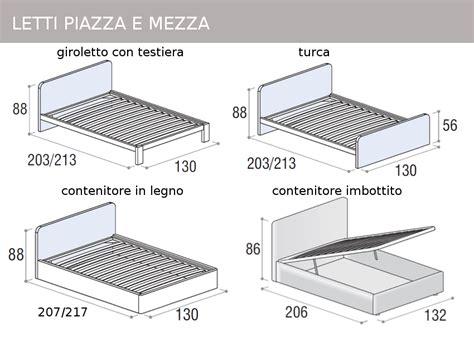 Dimensione Letto Una Piazza E Mezzo - mobili doimo cityline misure e componibilit 224