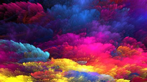 Rainbow Colors Abstract Art Hd Wallpaper Wallpaper