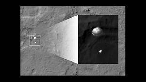Mars Rover Landing Photographed From Mars Orbit