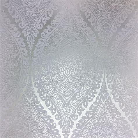 grandeco kismet silver wallpaper a17703
