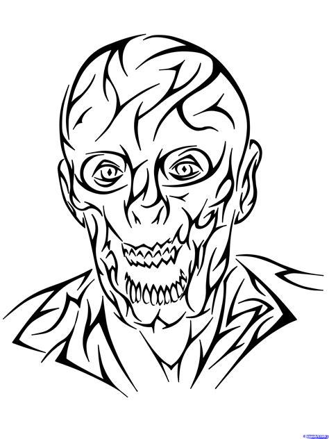 How to Draw a Tribal Zombie, Tribal Zombie Tattoo, Step by