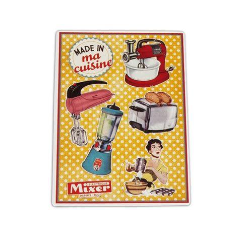 plaque deco cuisine retro petits magnets deco quot made in ma cuisine quot déco