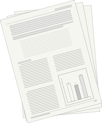 Papers And Reports Report Office Supplies Paper Report Png Html
