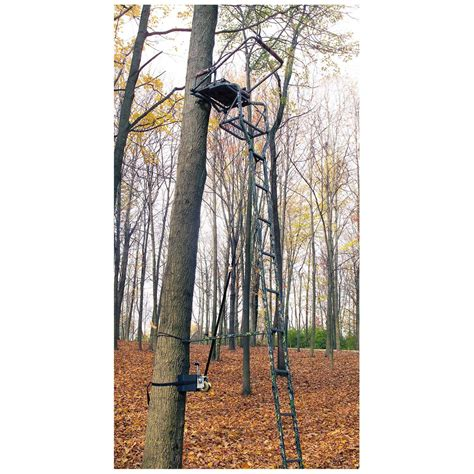 ladder stand 2nd man heavy duty kit 294204 ladder tree