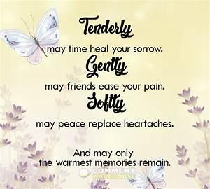 Tenderly may ti... Healing Sorrow Quotes