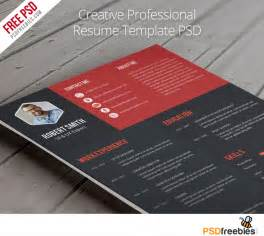 best free psd resume templates 25 best free resume cv templates psd psd