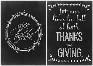 Two Thanksgiving Chalkboard Printables - The Crazy Craft Lady