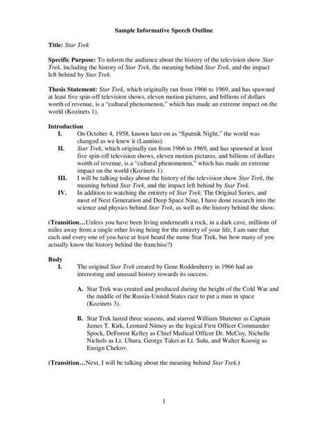 informative speech outline template 7 informative speech outline templates pdf free premium templates