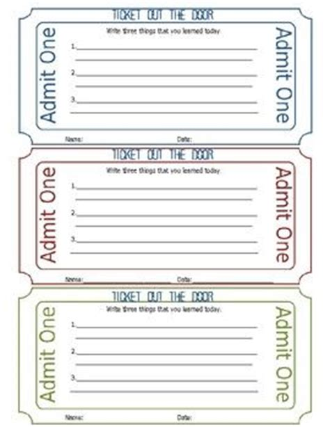 physical education exit ticket template printable bing