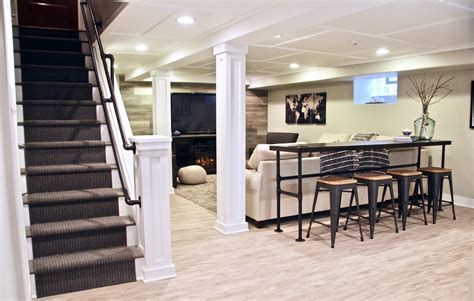 cozy    charming farmhouse inspired basement