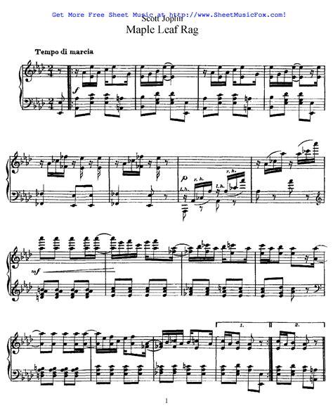 The maple leaf rag is associated with the city of sedalia, missouri. Free sheet music for Maple Leaf Rag (Joplin, Scott) by Scott Joplin