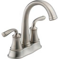 shop delta lorain stainless 2 handle 4 in centerset watersense bathroom faucet drain included